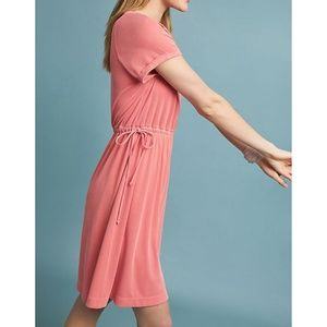 Anthropologie Saturday Sunday Cupro Tied Dress